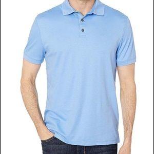 Calvin Klein polo shirt soft knit cotton pale blue